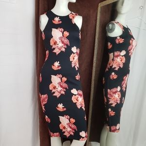 H & M Floral Fitted Dress